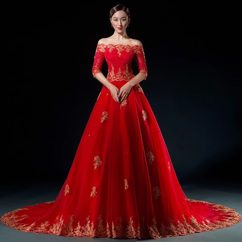Non Traditional Red Wedding Dresses: Traditional Chinese Bridal Gown